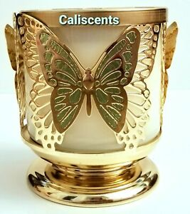 BATH BODY WORKS BUTTERFLY THREE WICK CANDLE HOLDER  PEDESTAL NEW X1