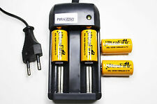 4 PILES RECHARGEABLE 1200mAh 18350 3.7V Li-ion BATTERIE BATTERY + CHARGEUR RS08