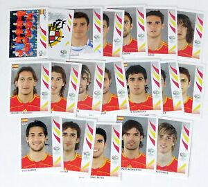 Lot 19 vignettes Panini FIFA Germany 2006 Equipe Espagne Complète