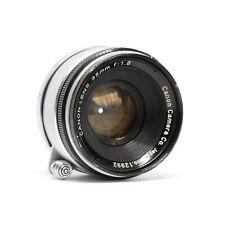 :Canon Rangefinder 35mm f1.8 LTM L39 Leica Screw Mount Lens [EX-]