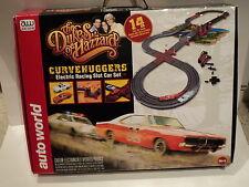 Auto World Dukes of Hazzard Curvehugger Racing Set!  General Lee & Sheriff Cars!