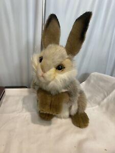 NEW Hansa Caramel Brown Easter Bunny Baby Rabbit Stuffed Animal Plush Toy #3316
