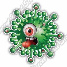 """Green One Eyed Monster Cartoon Funny Beast Car Bumper Vinyl Sticker Decal 4.6"""""""