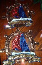 Sequin Applique Nautical Set of 2 NEW