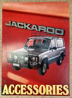 1982 Holden Jackaroo Accessories original Australian sales brochure