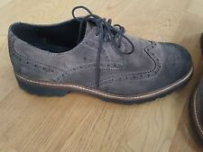 Geox Respira Mens 41.5 lace up brown suede shoes