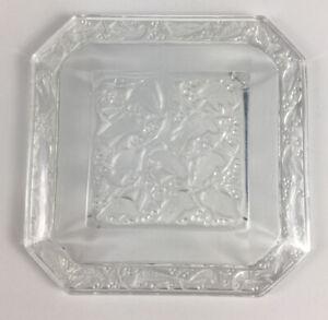 "Vintage Lalique ""Anna"" Bird Motif Glass Crystal Jewelry Trinket Tray Ashtray"