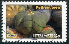 TIMBRE FRANCE AUTOADHESIF OBLITERE N° 749 / FLORE LEGUMES / POTIRONS VERTS