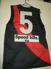 ESSENDON JAMES HIRD HAND SIGNED HOME #5 JERSEY UNFRAMED + PHOTO PROOF + C.O.A