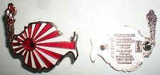Rising Sun Japan Flag with Japanese Dates Back Stamp Phish/Grateful Dead Hat PIN