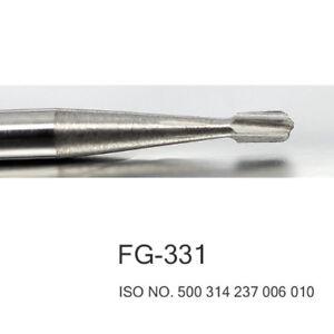 100pcs Dental Tungsten carbide burs FG - 331
