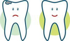 Provvisoria di kosmetikset per la sostituzione di eccentrici denti Corone Ponte