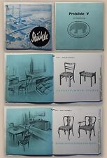 Catálogo bähre silla fábrica zambulliré Hannover baja sajonia 1934 sillas lista de precios
