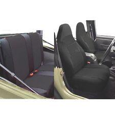 Jeep Wrangler Neoprene Seat Cover Full Set front rear Black 2000 2001 TJ 127-00