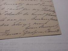 Autograph letter signature FRANCES HODGSON BURNETT author The Secret Garden etc