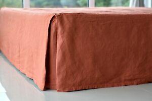 LINEN SKIRT CUSTOM bed skirt bedskirt / linen bed skirt bed skirt /