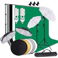 Photo Photography Studio Lighting Kit 4 Umbrella Light 4 Muslin Backdrop St