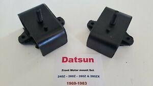 Front Motor Mount Set (2) fits Datsun 240Z - 260Z - 280Z - 280ZX 1969-1983