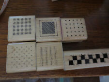 6 1989 PATTERN RUBBER STAMPS BY D.O.T.S