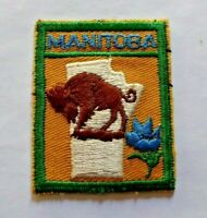 Vintage Manitoba cloth scouts badge, just slightly bigger than 2 x 1.5 inches.