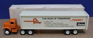 Winross 1:64 White 9000 Semi Tandem Axle Parker Parflex Hoses VNM Boxed 1974