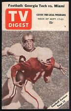 1955 GEORGIA Tv Digest Guide~Tech Football Bobby Dodd~Southern Ranch Boys