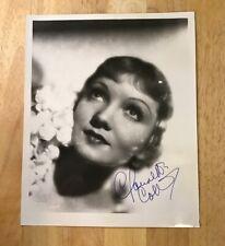CLAUDETTE COLBERT Autograph 8 x 10 Photo JSA Certified Signature Film Actress