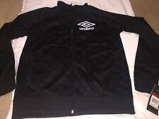 Vintage Black White UMBRO Windbreaker Track Jacket soccer Nylon MENS M MEDIUM