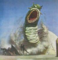VTG Art Print Slug Sandworm Ultimate Horror Esau Tapeworm Yasmeena Sci-Fi Alien