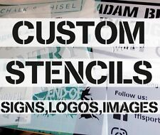 Custom STENCILS Letters, Numbers, Signs, Logos, Images, Mylar stencils, Reliable