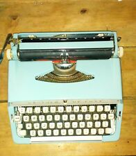 A Vintage Brother De Luxe 1960s Powder Blue/Duck Egg Blue Typewriter