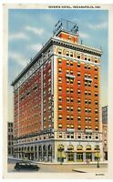 Postcard IN Indianapolis Severin Hotel Street View Vintage