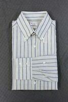 "NWT$625 Brunello Cucinelli Men's ""Slim Fit"" Candy Stripe Dress Shirt Size M A176"