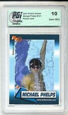2004 Michael Phelps Rookie Review card PGI 10 Olympics Gold