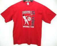 Vintage 1990 Logo 7 Men's Size Large St. Louis Cardnals T Shirt MLB Made in USA