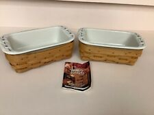 """2 Longaberger Baskets With Crock Inserts 1999 """"Must See�"""