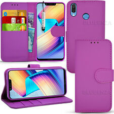"""For Huawei Honor Play 6.3"""" - Wallet Leather Case Flip Cover + Screen Protector"""