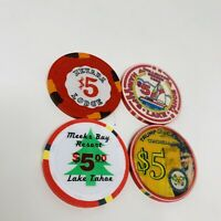 Nevada Club Lodge Lake Tahoe $5 Casino Chip Meeks Bay Harrahs Trump 29 Palms