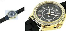 Ladies Juicy Couture  38mm Gold Plated Scratch Resistant Pedigree Watch 1901069