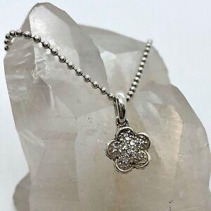 925 Silver Flower Pendant for Necklace 6.8 grams Floral Flower Pendant SP491 Sterling Silver Rose Charm