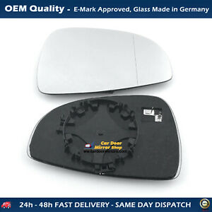 RHS, AUDI R8 2007->2020 Door Wing Mirror Glass With Base, Heated WIDE ANGLE
