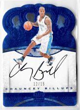 2016-17 Crown Royale Chauncey Billups Blue On Card Auto /15 SSP Denver Nuggets!*