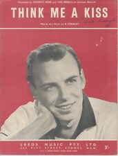 "JOHNNY REBB AND THE REBELS  Rare 1960 Aust Only Sheet Music ""Think Me A Kiss"""