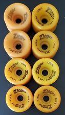 Vintage 80's Roller Skate Wheels (8) Zinger USA Indoor Speed 57mm x 40mm 98a