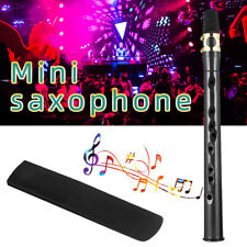 More details for mini portable pocket saxophone sax instrument +1 reed with bag for beginner gift