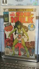 (R27) The Savage She Hulk #1 -CGC 8.0  White pages - NEWSTAND COPY  Marvel MCU