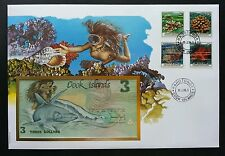 Cook Islands Corals 1989 Reef Under Water Fish Shark Diving (banknote cover)