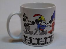 New listing Mickey Mouse Walt Disney Ceramic White Coffee Cup Mug Through the Years Applause