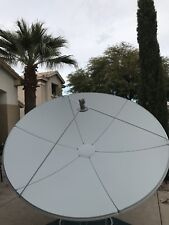 2.4 m,  8 ft ,  Satellite Dish, Prime Focus,  C/KU, with integrated mount.  NEW!