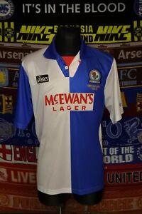 4.5/5 Blackburn Rovers adults XL 1994-95 champions football shirt jersey trikot
